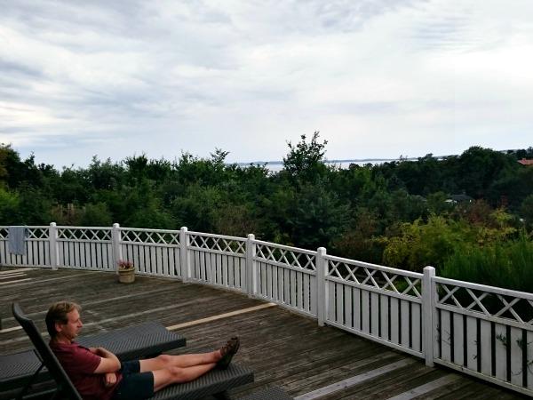 Uitzicht vanaf het terras van ons vakantiehuis