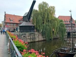 De haven van Lüneburg