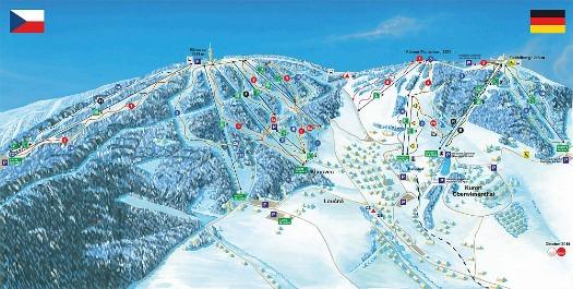 Skipistes SkiAreal Klinovec - Fichtelberg