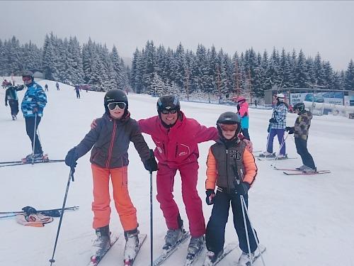 jongens met skileraar david