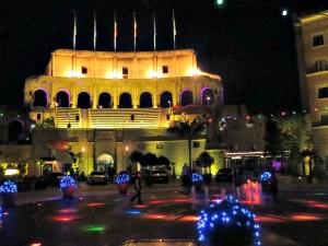 Het plein van hotel Colosso in Europapark