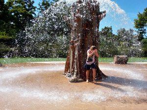 Een fontein bij de Holle Bolle Buiten