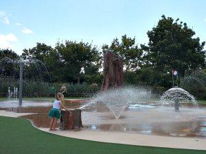 Het fonteinplein bij de Holle Bolle Boom