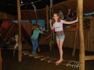 De indoor speeltuin bij Landal 't Loo