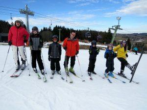 ski-groep in Nesselwang
