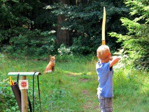 Boogschieten bij de Lauschhutte in het Bingerwald