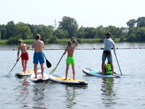 Stand Up Paddling op de Kinzigsee