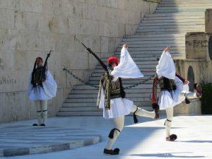 De wisseling van de wacht in Athene