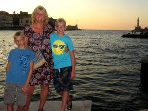 Bij de mooie haven van Chania, Kreta