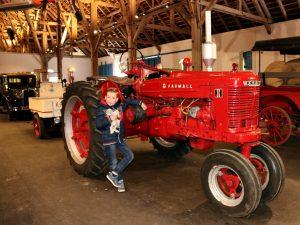 gave tractor in het oldtimermuseum bij kasteel Egeskov