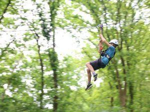 zip-lijn klimbos