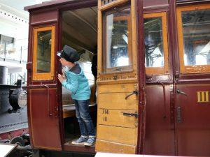 ouderwetse treinwagon spoorwegmuseum Odense