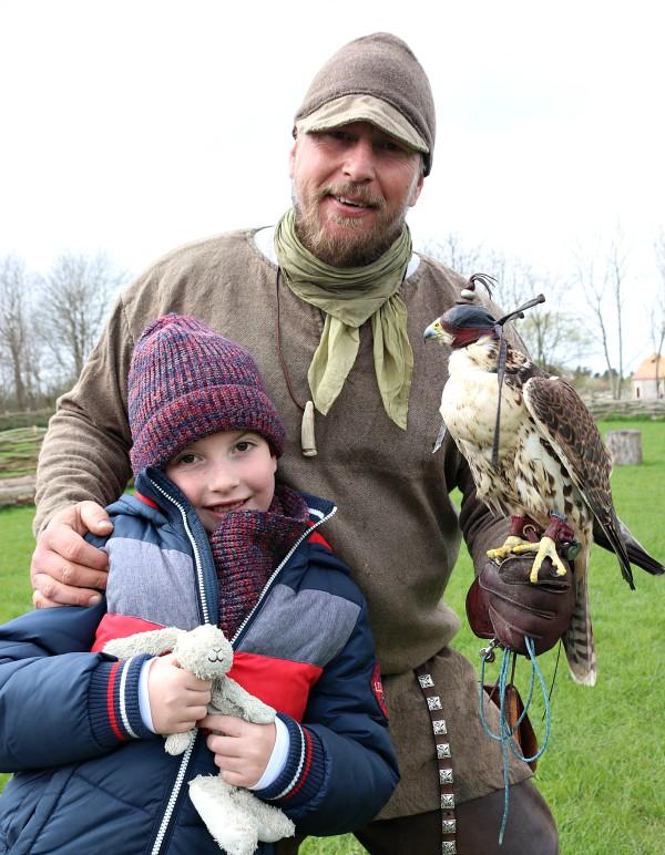 roofvogel, viking en kind