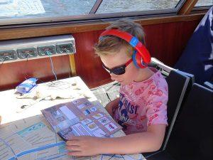 bleu boat kind koptelefoon