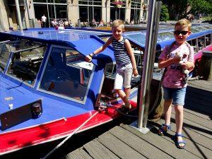 Klaar om mee te varen met bleu boat