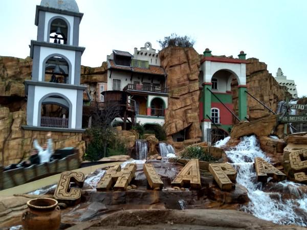 de Chiapas boomstam achtbaan in Phantasialand