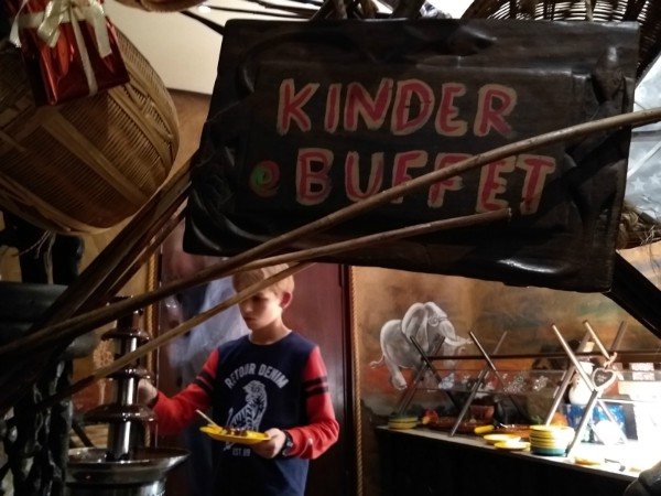 Kinderbuffet in restaurant Zambesi