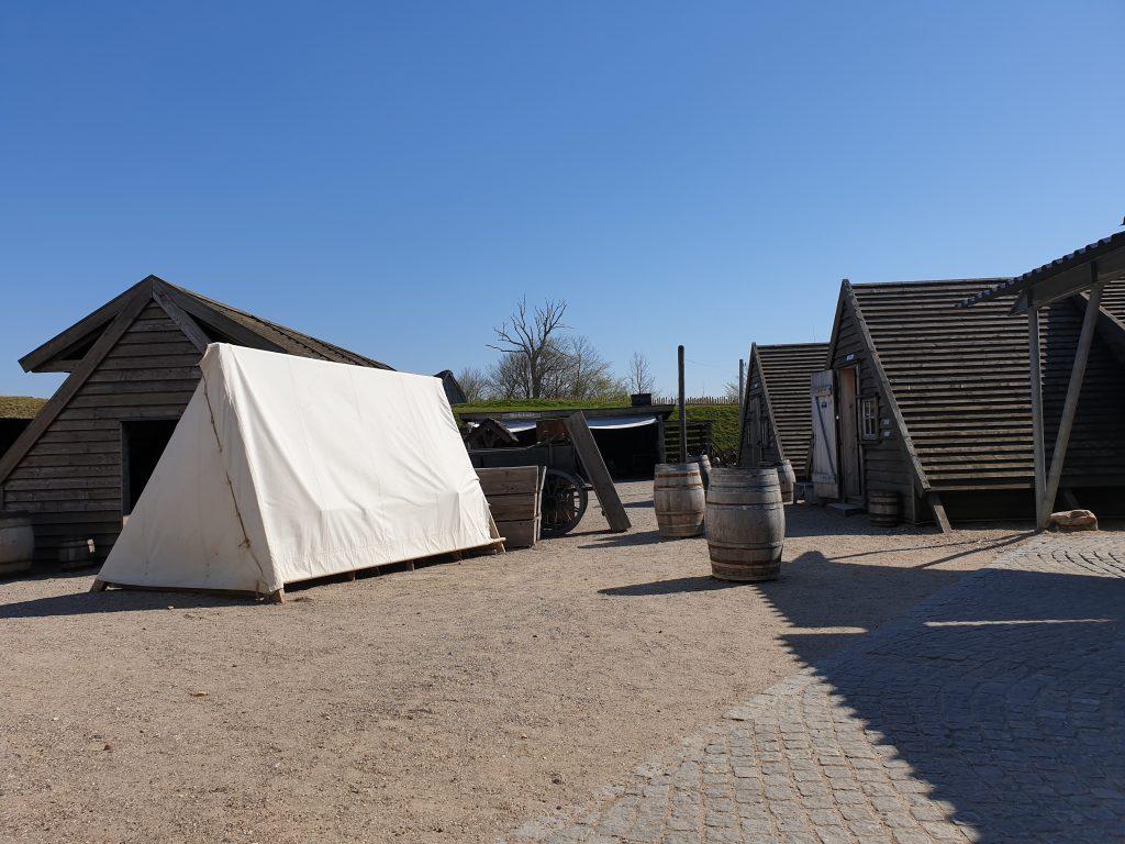Soldatenkamp in Historisch Centrum Dybbøl Banke
