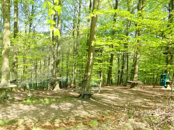 Het klimpark van Camp Adventure