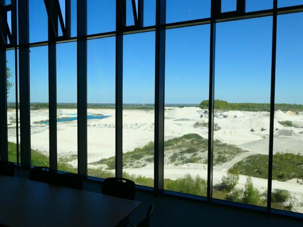 Uitzicht over het fossielen rif