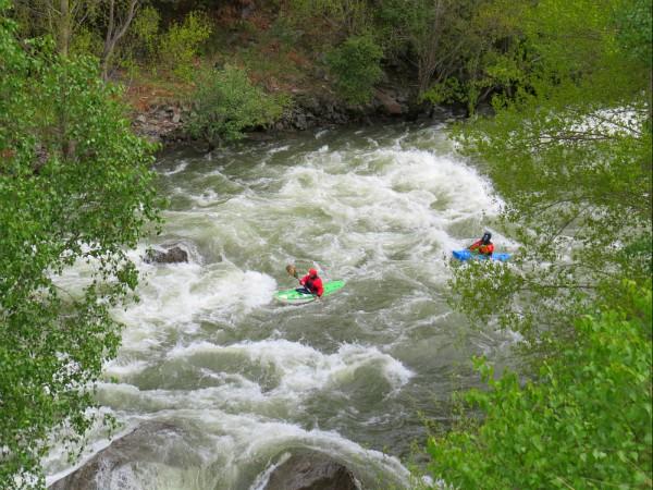 Kanoën op de Pallaresa rivier
