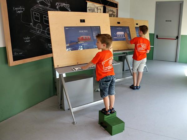 Ontwerp je eigen trein in het Spoorwegmuseum.