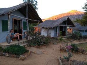 Huisjes in het Tsara Camp