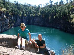 Even poseren bij het mooie kratermeer van Tritriva