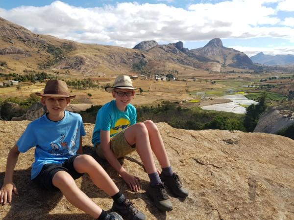 Prachtig uitzicht vanaf de rotsen in het Anja reservaat