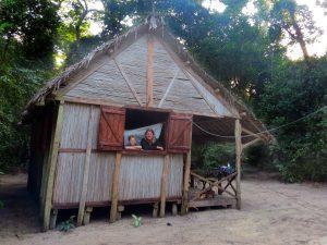 Overnachten in een hutje in het bos