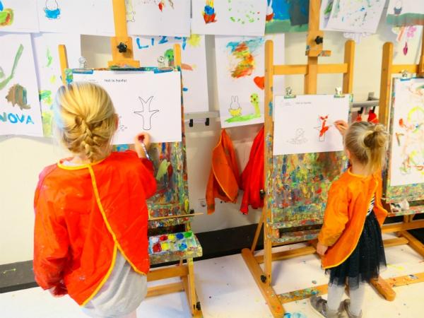 schilderen in het nijntje museum